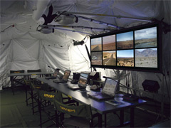 Deployable Command and Control Equipment (DC2E) allows users to view multiple feeds of information on a single display system.