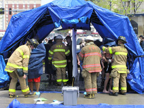 Reeves EMS- Decontamination Shelter and Clinical Equipment
