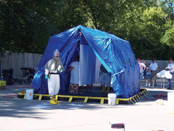 Reeves 2- lane decontamination system